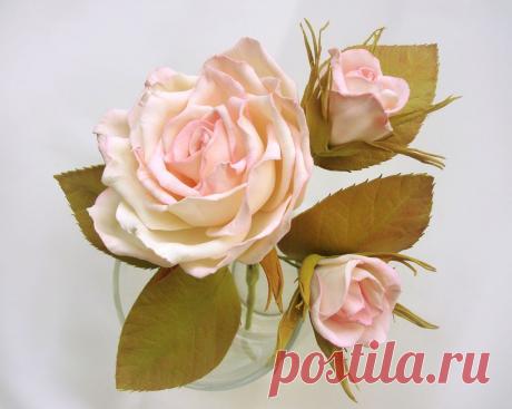 Роза из фоамирана: Поэтапные мастер-классы и схемы