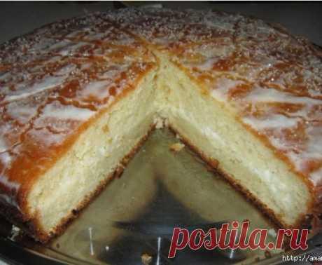 Нежнейший творожный пирог на майонезе