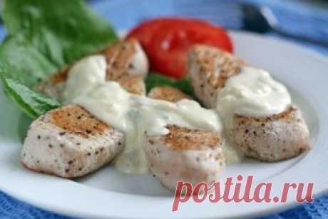 Как в ресторане! Филе индейки с сырным соусом | Вкусные рецепты