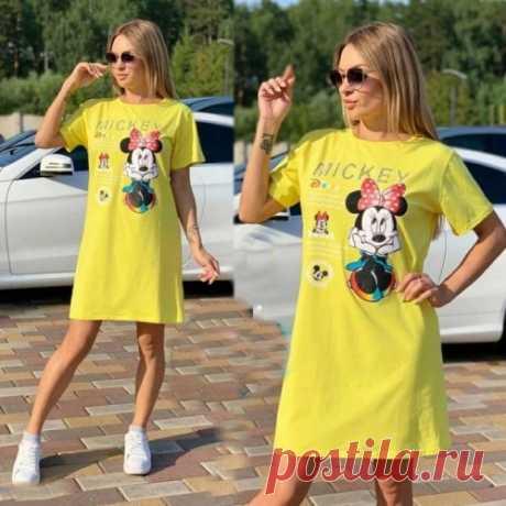 Платье футболка   милая футболка с Микки Маусом. Скидки. Доставка.