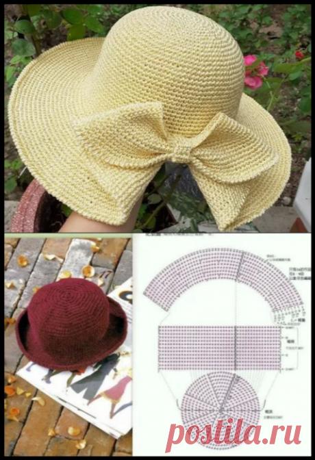 Готовимся к лету - 5 вариантов летних шапок + мастер класс по вязанию крючком