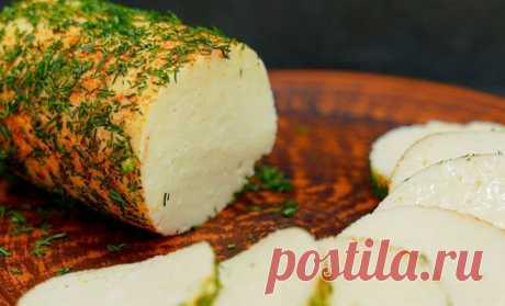 Варим творог в молоке и через 3 часа ставим на стол настоящий домашний сыр
