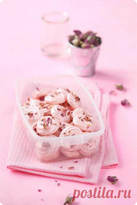 Verdade de sabor: Розовое безе / Suspiros de rosas