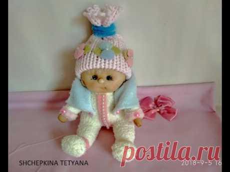 Мастер класс. Кукла из носка. Кукла в капроновой технике.🍒 Muñeca estilo soft-