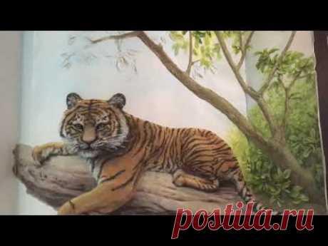 Роспись барельефа завершающий этап / художник Наталья Боброва