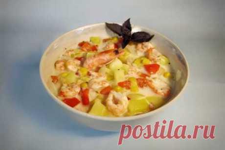 Сырный суп с креветками и кукурузой, рецепт с фото и видео   Вкусные кулинарные рецепты