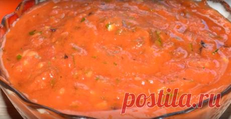 За 5 минут великолепный соус из помидоров Такой соус может стать отличным дополнение к любому блюду. В еще его можно использовать в качестве вкусной и аппетитной намазки на бутерброд.Соус очень простой в приготовлении. Продукты используются …