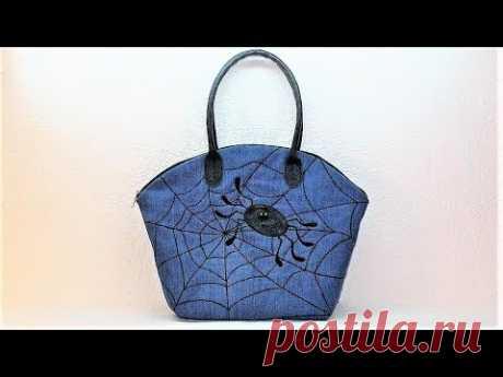 """Джинсовая сумка """"Спайдер бэг"""". DIY Denim bag """"Spider's bag"""""""