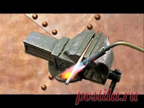 Самодельная горелка для гаража! Пайка латунью без кислорода!Homemade tools - YouTube