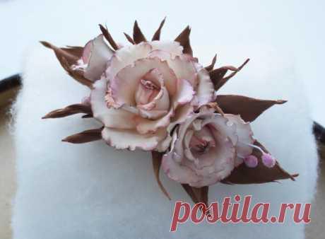 Нежнейшие розы из фоамирана — Рукоделие