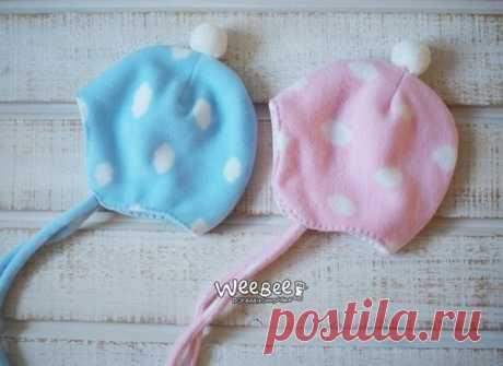 Шьем шапочку из флиса для малышей
