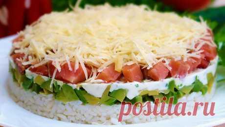 """Слоеный салат """"Маркиз"""" - без майонеза. Легкий и полезный."""