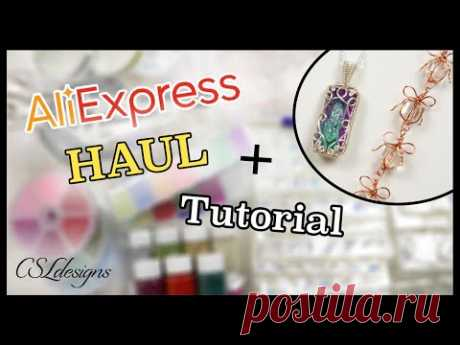 AliExpress haul and tutorial from QIAO Glass Beads Beading Store ⎮ AD