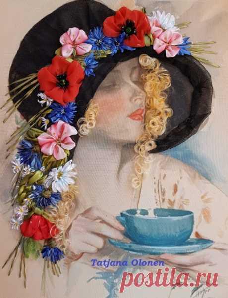 """(6) Gallery.ru / """"Девушка в шляпе с цветами"""" - Продолжение-18 - oltatjana"""