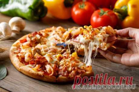 1.Пицца с вкусным краешком Ингредиенты: -150мл тёплой воды -0.5 ч.л. сахара -0.5 ч.л. соли -2 ст. ложки оливкового или растительного масла -8 г сухих дрожжей (1 ч.л) -1.5 ст. муки Приготовле…