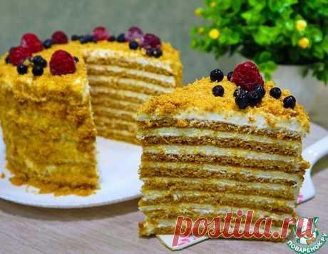 """Классический торт """"Медовик"""" с тончайшими коржами и нежнейшим сметано - сливочным кремом"""