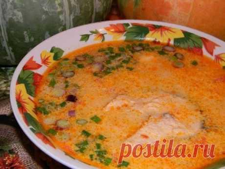 Королевский итальянский рыбный суп с овощами и сливками