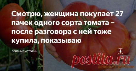 Смотрю, женщина покупает 27 пачек одного сорта томата – после разговора с ней тоже купила, показываю Почему я купила этот сорт томата - рассказываю, чем меня он впечатлил