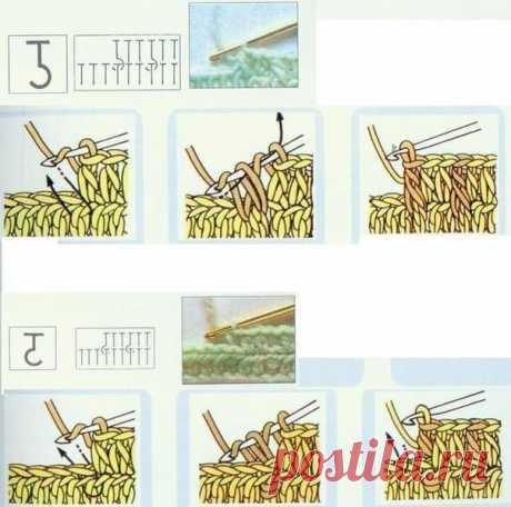 (68) Одноклассники.Смена нити при вязании крючком .