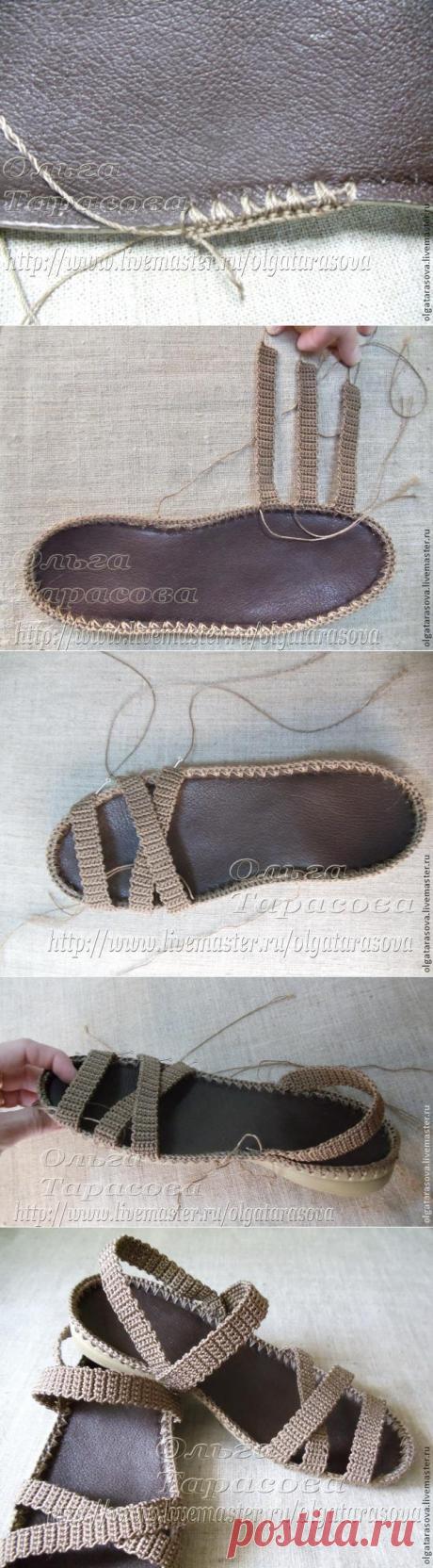 Мастер-класс: вязаные сандалии или обувь из ничего — Сделай сам, идеи для творчества - DIY Ideas