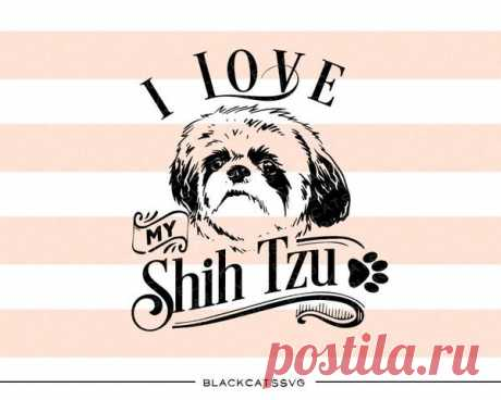 I love my Shih Tzu -  SVG file Cutting File Clipart in Svg, Eps, Dxf, Png for Cricut & Silhouette I love my Shih Tzu - SVG file The item includes a version for black / dark color This is not a vinyl, the file contains only digital files, and no material items will be shipped. This is a digital download of a word art vinyl decal cutting file, which can be imported to a number of paper crafting programs like Cricut E
