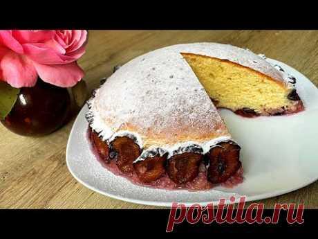 Пирог со сливами за 10 минут + время на выпечку