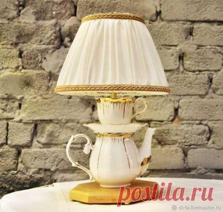 Как сделать настольную лампу из чашек и чайника | Журнал Ярмарки Мастеров