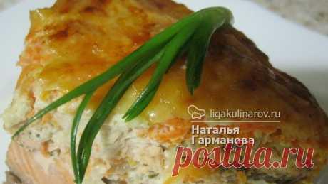 Кета запеченная с овощами - рецепт пошаговый с фото