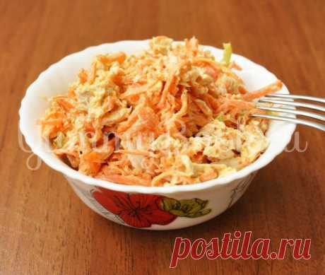 Куриный салат с корейской морковью | Любимые рецепты