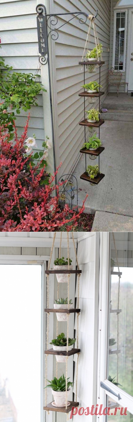 Подвесное деревянное кашпо своими руками — Сделай сам, идеи для творчества - DIY Ideas