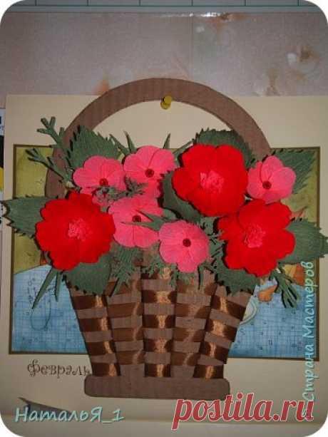 Прекрасная корзинка с цветами — Сделай сам, идеи для творчества - DIY Ideas