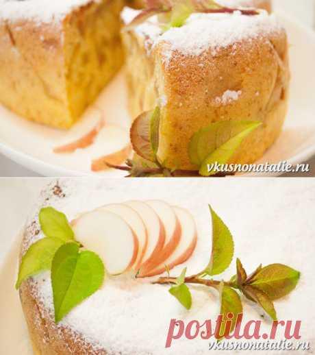 Пышная шарлотка с яблоками в мультиварке - рецепт для лентяек