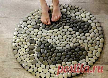 Как сделать стильный коврик из гальки (мастер-класс) - ЖЕНСКИЙ МИР - медиаплатформа МирТесен