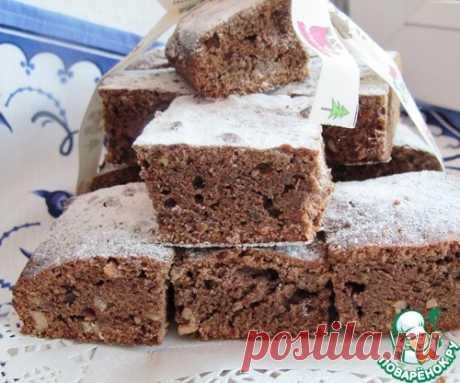 Коврижка медово-ореховая от тёти Дины - кулинарный рецепт