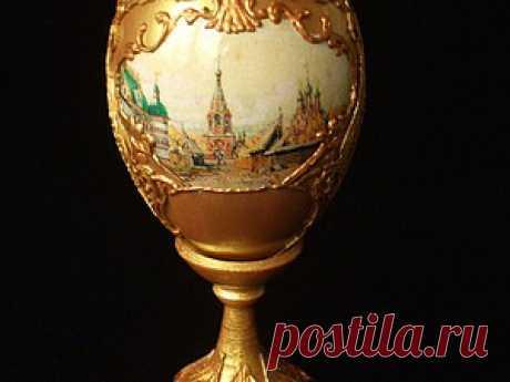 Декорирование пасхального яйца в русском стиле - Ярмарка Мастеров - ручная работа, handmade
