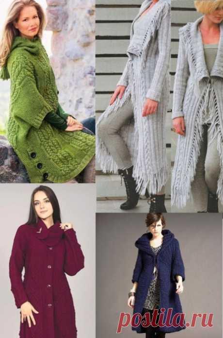 Шикарные вязанные пальто