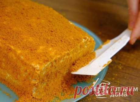 Медовик без раскатки коржей - пошаговый рецепт с фото на Готовим дома