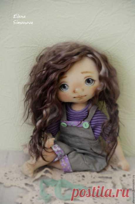 Купить Аврора - сиреневый, коллекционная кукла, интерьерная кукла, коллекционные игрушки, интерьерная игрушка