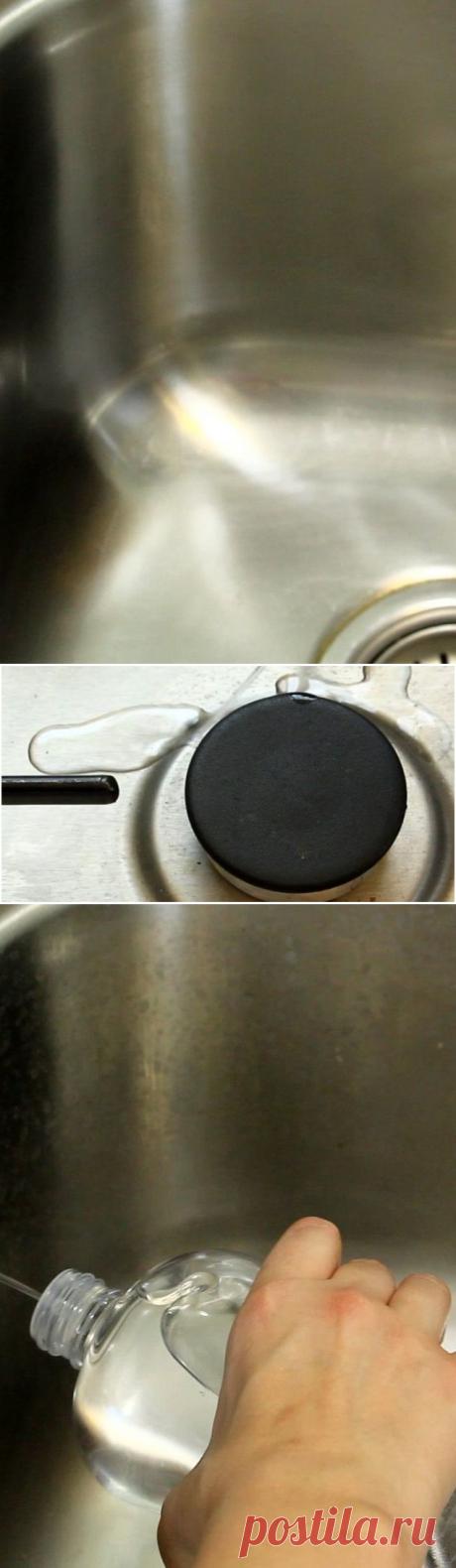 El método simple y barato para el fregadero de cocina que radia en 3 minutos
