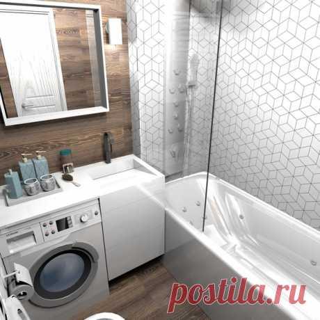 Дизайн-проект ванной комнаты в 4 кв.м