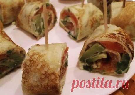 (6) Блины с авокадо, сёмгой и сливочным сыром Автор рецепта Наталья Танцура - Cookpad