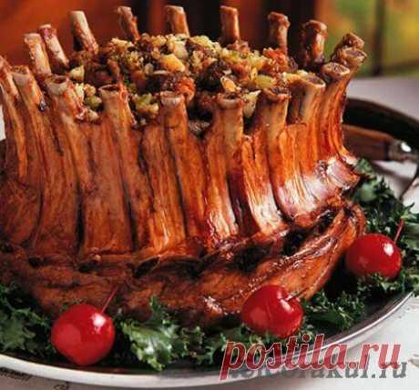 Корона из ребрышек - как приготовить свиные ребрышки - рецепты с фото