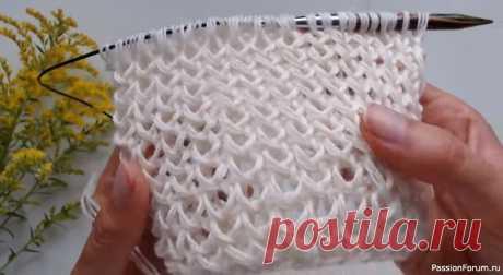 Классный узор для шарфа. Видео МК | Вязание спицами для начинающих Просто отличный молодежный узор. Идеален для шарфа!
