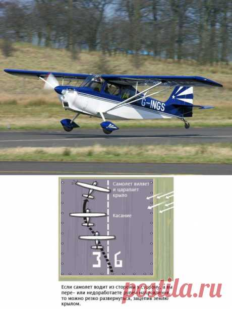Авиалог.ру | the Magazine | Features of landing with a tail wheel