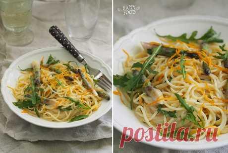 Вкусно! Паста со спаржей и апельсиновым-мятным соусом — Фактор Вкуса