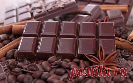 черный шоколад очень хорошо помогает при