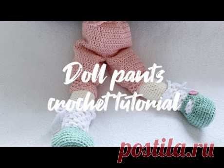 Doll pants crochet tutorial ( Tilda doll joints body and normal body)