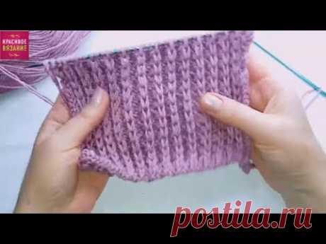 Красивый рельефный узор спицами для снуда или кардигана Видео урок вязания. Вязание для начинающих