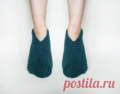 Ноги в тепле. Удобные и теплые следки спицами » «Хомяк55» - всё о вязании спицами и крючком