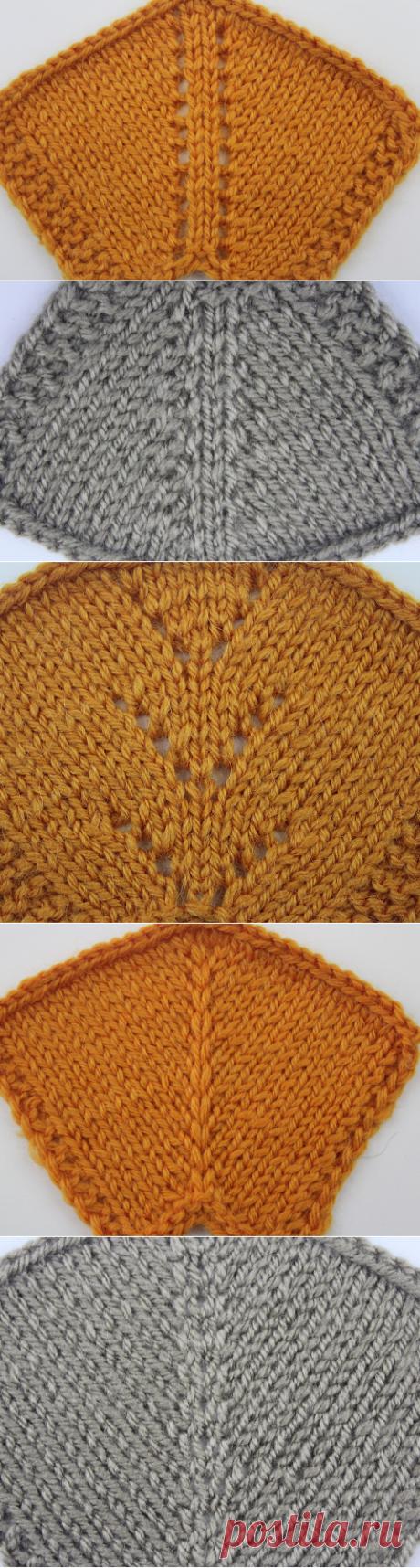 Вязание красивых регланных линий спицами